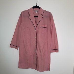 Madewell Pink Pajama Shirt Dress